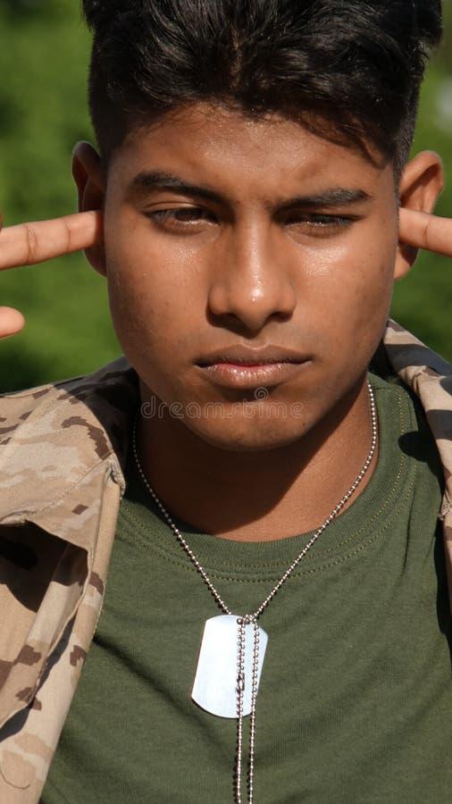 Cichy Męski żołnierz fotografia stock