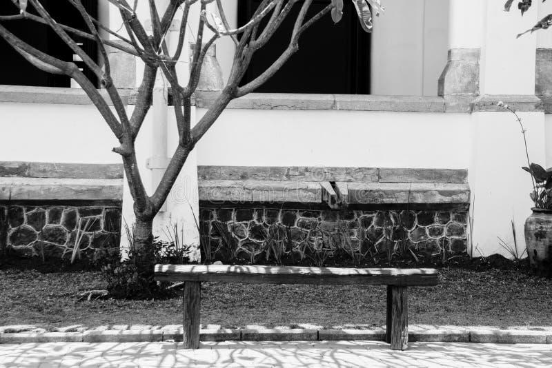 Cichy Parkowy krzesło zdjęcia royalty free
