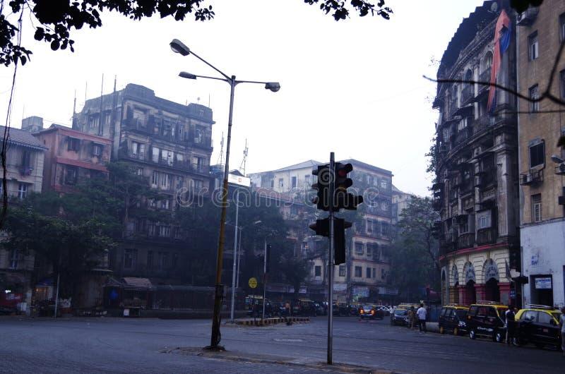 Cichy wczesny poranek w Mumbai, India zdjęcie stock