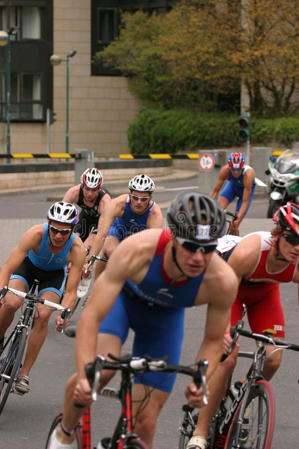 Ciclagem do Triathlon foto de stock