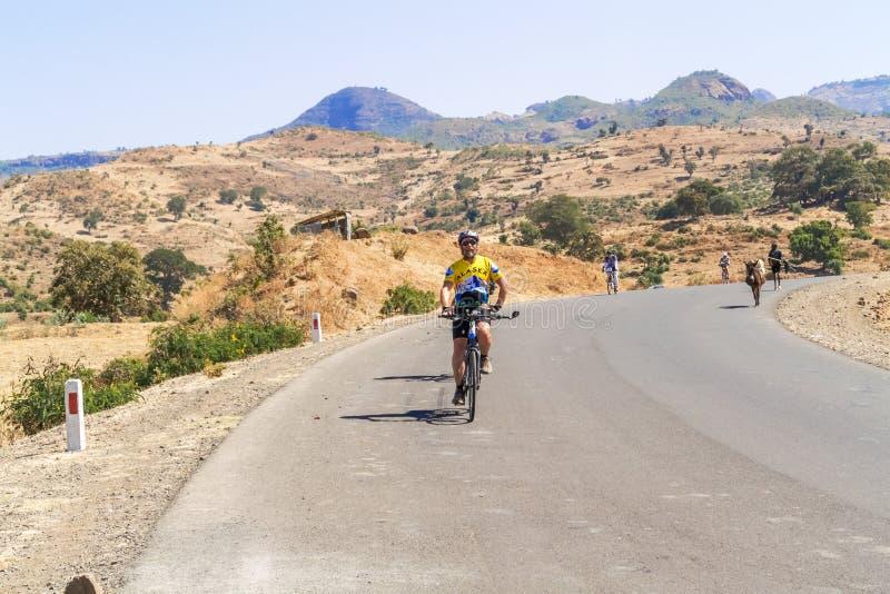 Ciclagem em Etiópia fotografia de stock