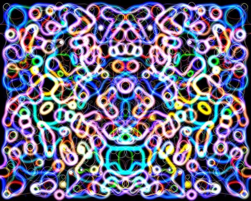 Cicli di vibrazione nella teoria delle stringhe royalty illustrazione gratis