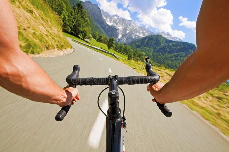 Ciclismo da estrada fotografia de stock royalty free