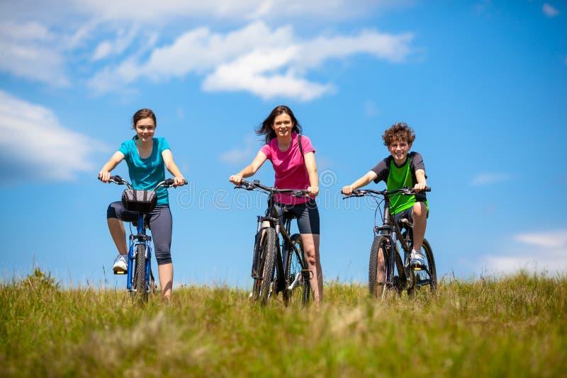 Download Ciclismo della famiglia fotografia stock. Immagine di bicyclist - 30831774