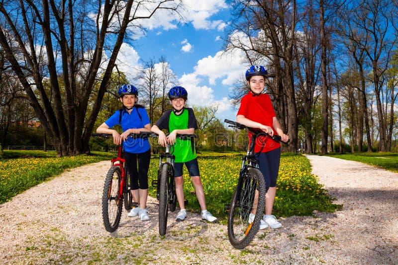 Download Ciclismo della famiglia fotografia stock. Immagine di maschio - 30831800