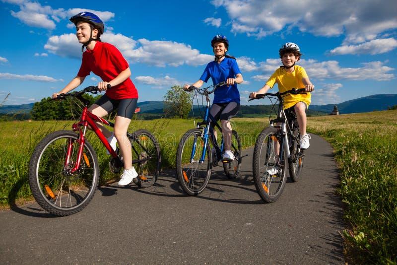 Download Ciclismo della famiglia fotografia stock. Immagine di famiglia - 30831932