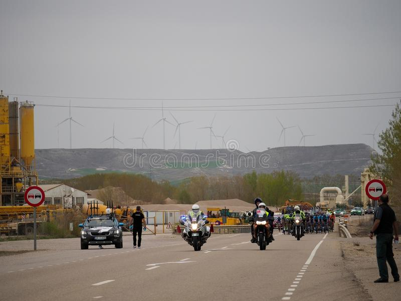Ciclismo vuelta ciclista 免版税库存照片