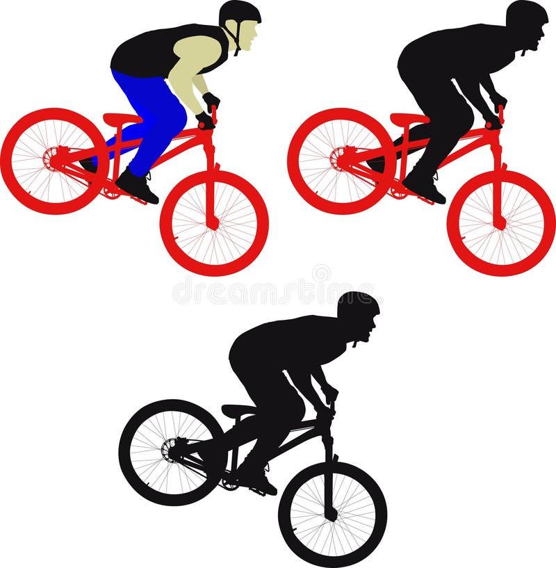 Ciclista ilustración del vector