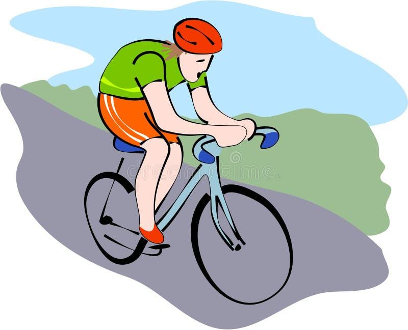 Ciclista ilustração stock