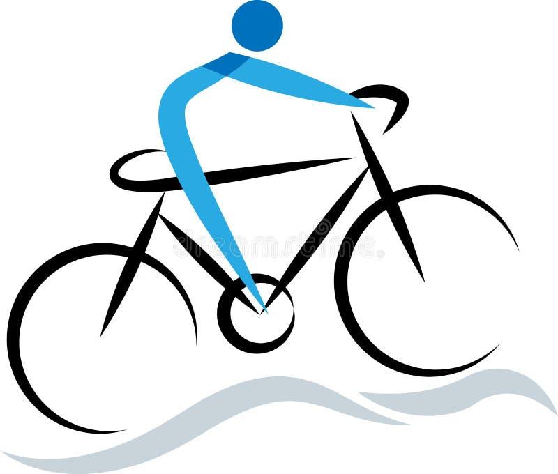 Ciclista illustrazione di stock