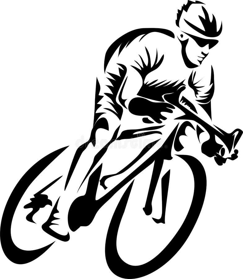 Ciclista stock de ilustración