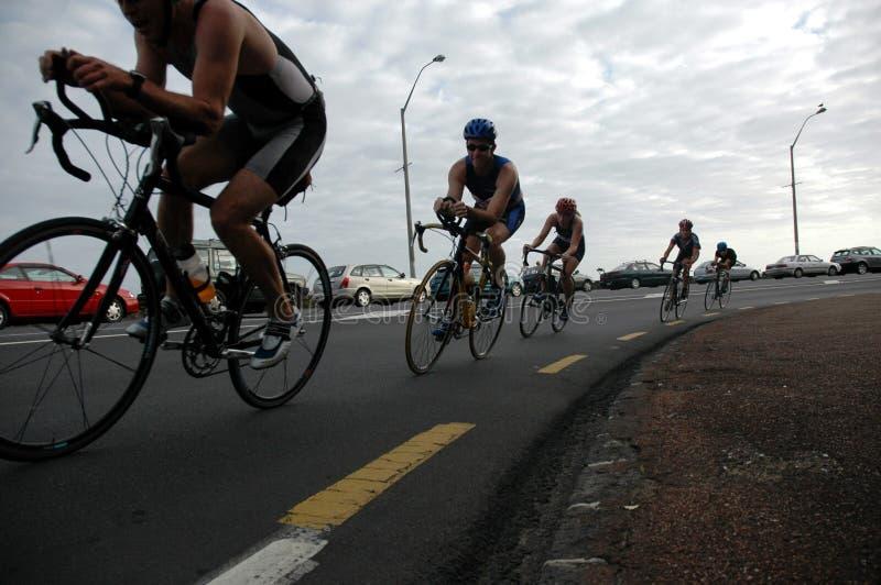 Ciclista imagen de archivo