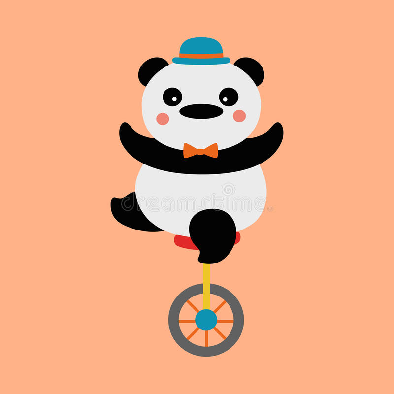 Ciclista de la panda ilustración del vector