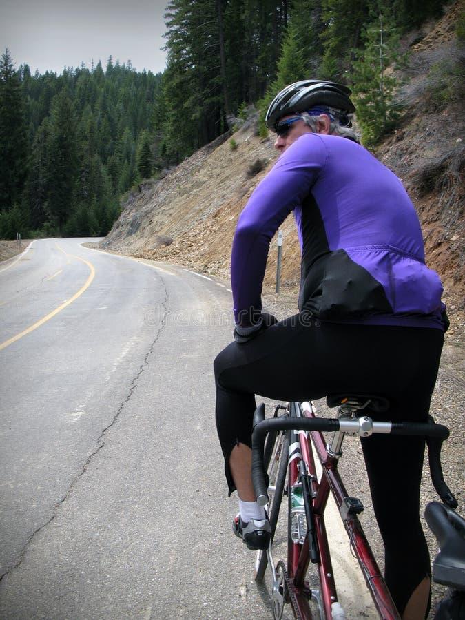 Ciclista della strada fotografie stock