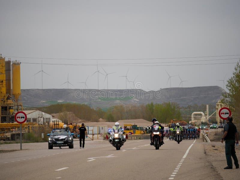 Ciclista di vuelta di Ciclismo fotografie stock libere da diritti