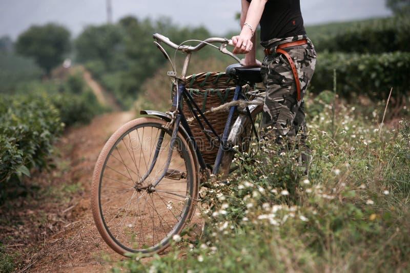 Ciclista en Vietnam imagenes de archivo