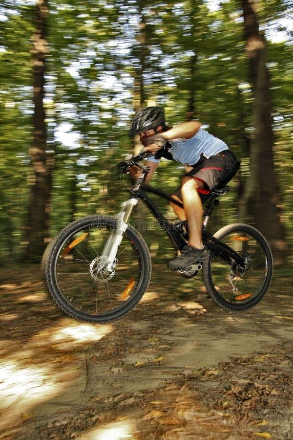 Ciclista extremo de MTB foto de stock