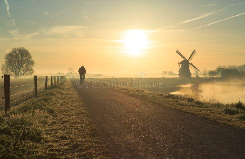 Ciclista holandés fotografía de archivo libre de regalías