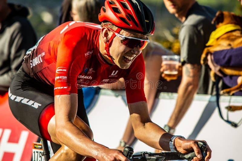 Ciclista na fase 2 2018 do De Yorkshire da excursão fotos de stock royalty free