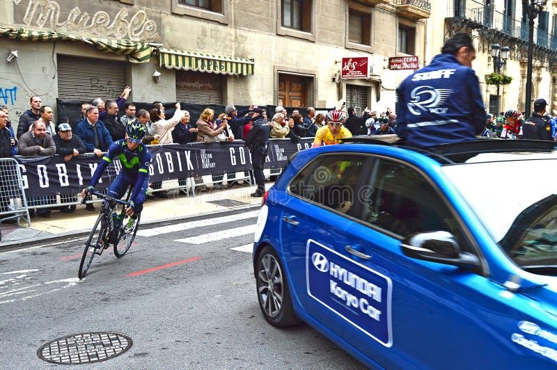 Ciclista Nairo Quintana imagen de archivo