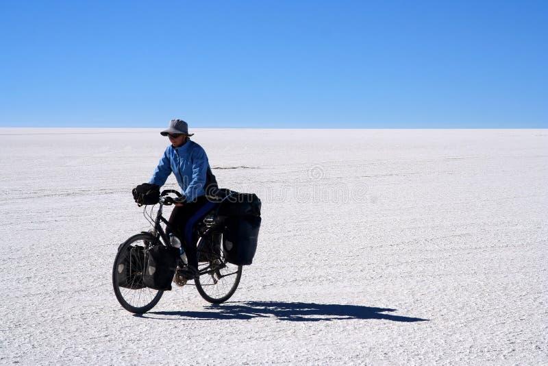 Ciclista só fotografia de stock royalty free