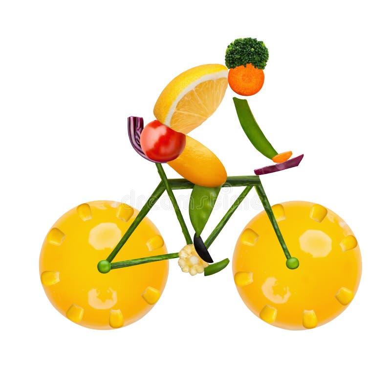 Ciclista sano imagen de archivo
