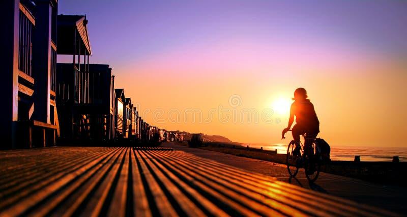 Ciclista solar do trajeto