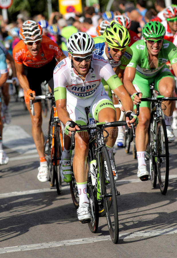 Ciclista tedesco Simon Geschke fotografia stock libera da diritti