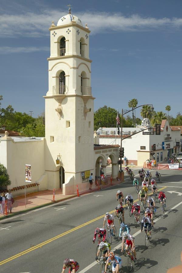 Ciclistas amadores dos homens que competem no circuito de competência nacional de Garrett Lemire Memorial Grand Prix (NRC) o 10 d imagem de stock royalty free