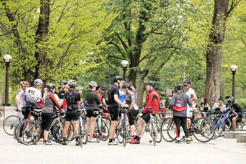 Ciclisti in Central Park, New York immagine stock