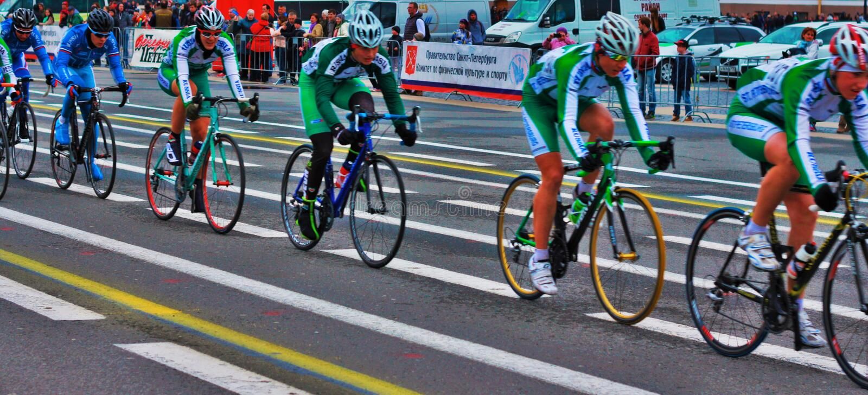 Ciclists obraz stock