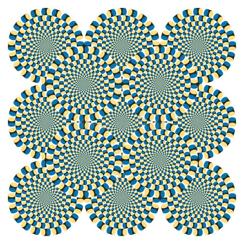 Ciclo de la vuelta de la ilusión óptica (vector) ilustración del vector