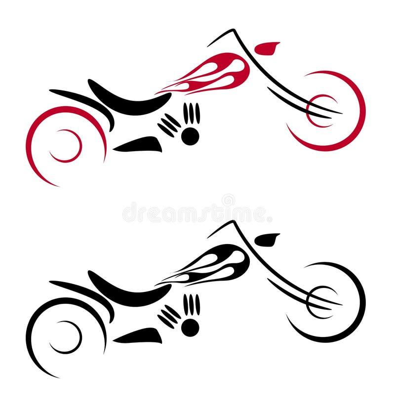 Ciclo de motor com logotipo do incêndio ilustração stock