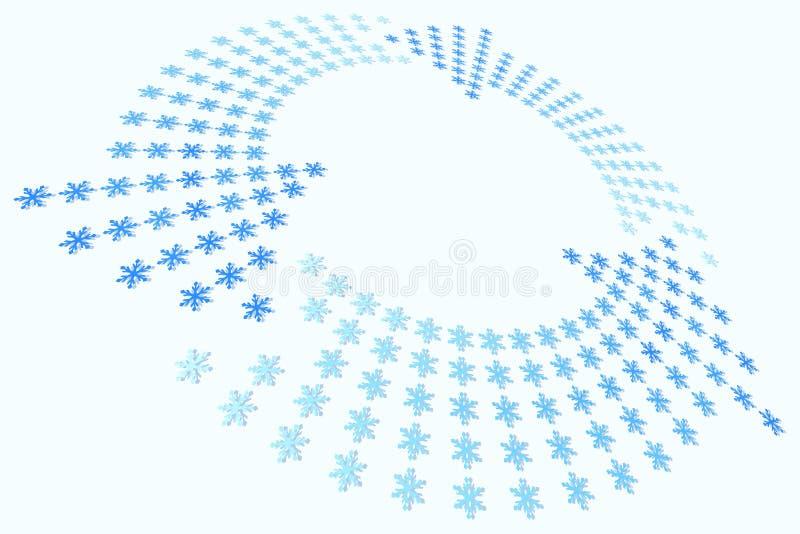 Ciclo del fiocco di neve illustrazione di stock