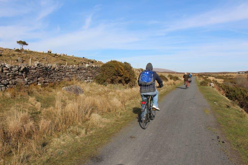 Ciclo del Greenway occidental verde, condado Mayo, Irlanda fotografía de archivo