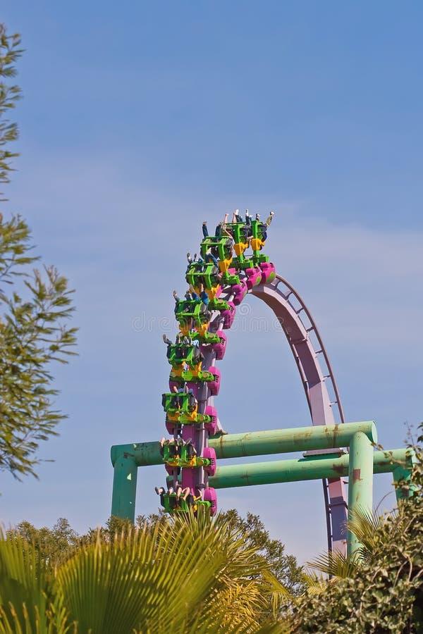 Ciclo del roller coaster fotografia stock