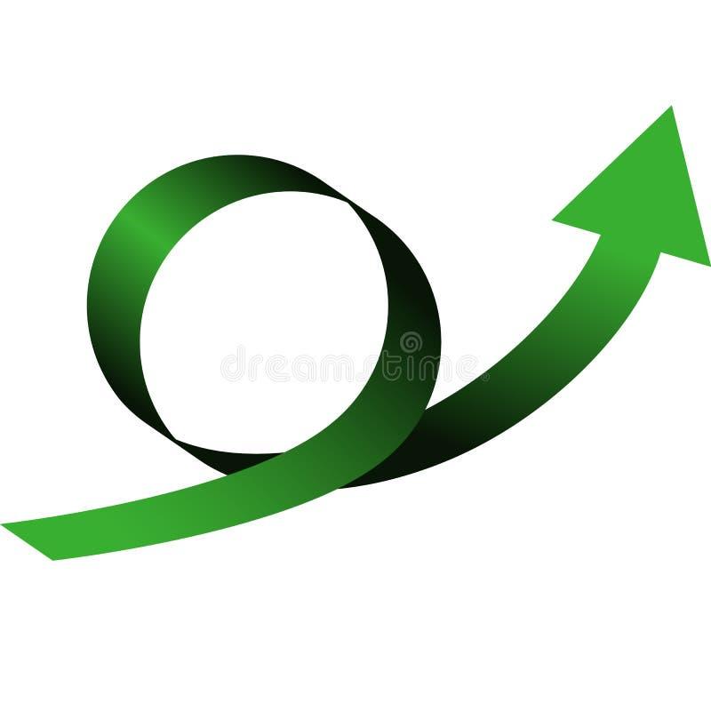 Ciclo della freccia di colore con la direzione su illustrazione di stock