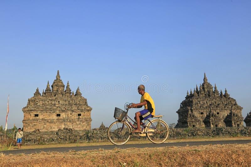 Ciclo en el templo de Plaosan imágenes de archivo libres de regalías