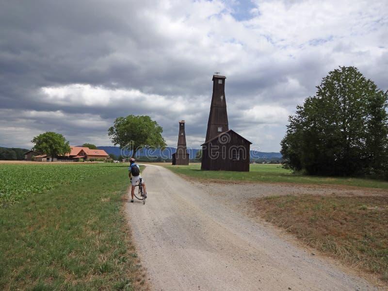 Ciclo en Suiza imagen de archivo libre de regalías