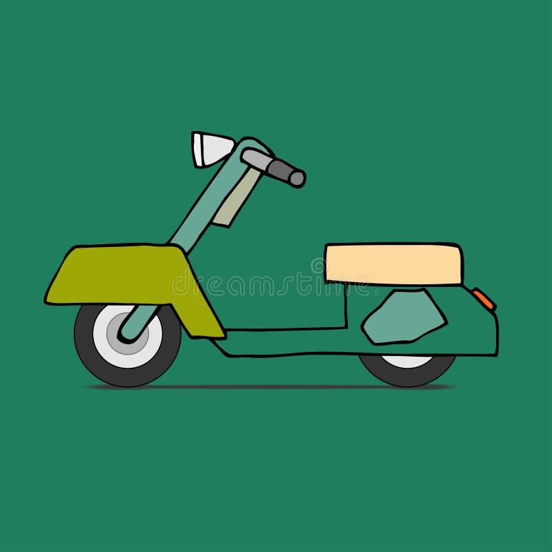 Ciclomotor clásico ilustración del vector
