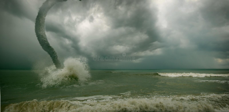 Ciclone dell'oceano immagini stock