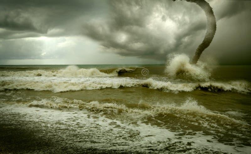 Ciclone dell'oceano fotografia stock libera da diritti