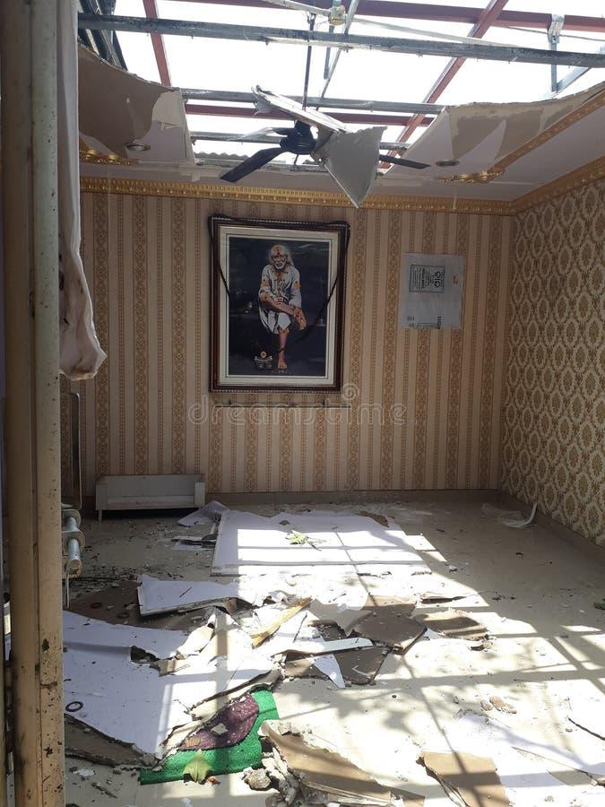Ciclone di Fany colpito agli stretes di odisha & a x28; Bhubaneswar& x29; fotografie stock