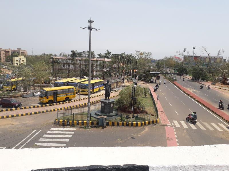 Ciclone di Fany colpito agli stretes di odisha fotografia stock libera da diritti
