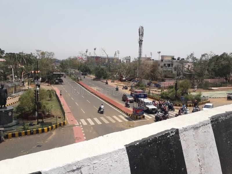 Ciclone di Fany colpito agli stretes di odisha immagini stock libere da diritti