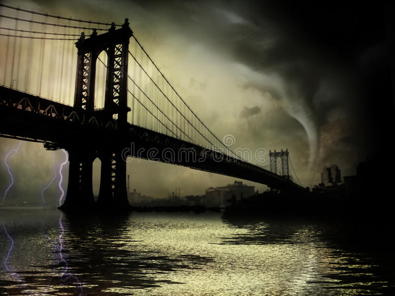 Ciclone NYC NY royalty illustrazione gratis