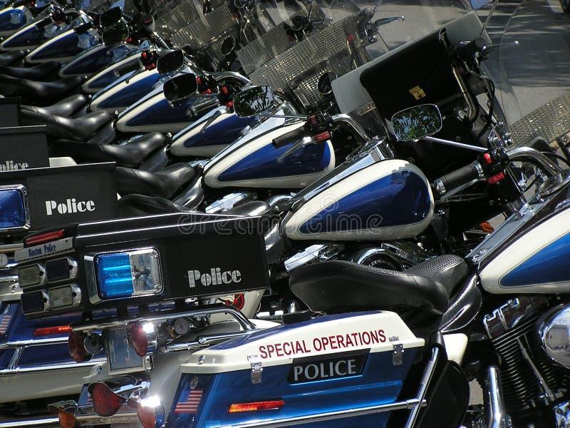 Ciclos de motor de la policía 2 foto de archivo