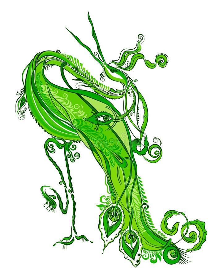 Cicogna magica royalty illustrazione gratis