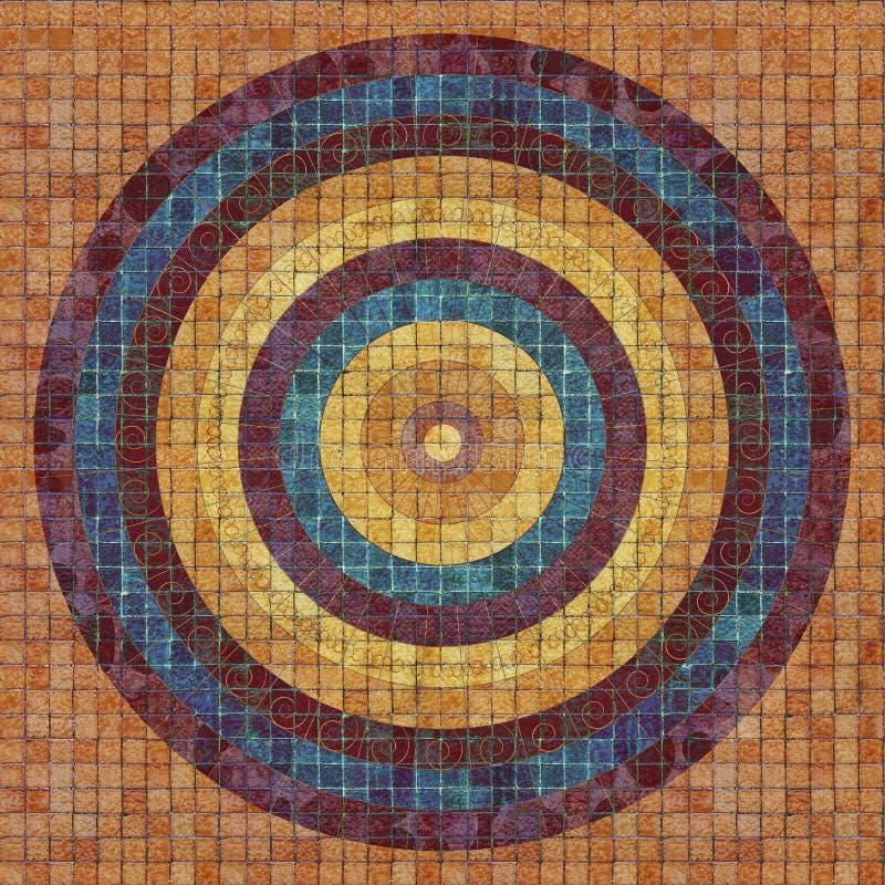 Cicular-Muster auf Fliesen stockfoto