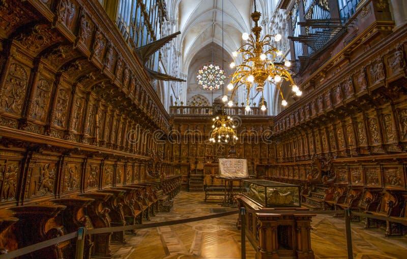 Cid Campeador ` s grób w Burgos katedrze maryja dziewica, Hiszpania Burgos katedra wkłada wśród światowych dziedzictw miejsc UN zdjęcie royalty free
